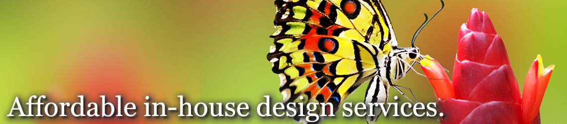 Affordable in-house design services.